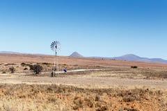 Ветрянка новой технологии - ландшафт Cradock Стоковое Фото