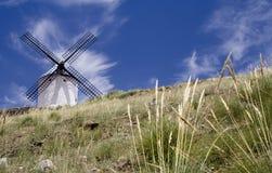 ветрянка поля стоящая Стоковые Изображения