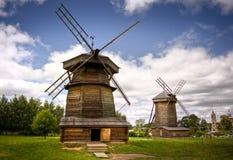 ветрянка русского сельской местности стоковое изображение
