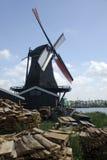 Ветрянка с деревянными планками Стоковое Фото
