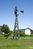 ветрянка установки страны Стоковое Изображение RF