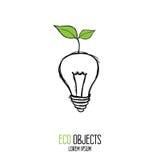 ветрянка eco изолированная энергией белая Первоначально вектор нарисованный рукой высококачественный Стоковое Фото
