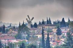Ветрянка Montefiore, Иерусалим Израиль Стоковое Изображение RF