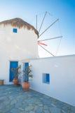 Ветрянка Mykonos Стоковое Изображение