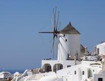 Ветрянка Santorini, Греции Стоковые Изображения RF