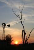 ветрянка silhoutte Стоковые Изображения RF