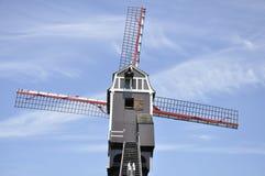 Ветрянка Sint-Janshuismolen, Брюгге Бельгия Стоковая Фотография