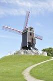 Ветрянка Sint-Janshuismolen, Брюгге Бельгия Стоковое фото RF