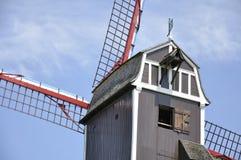 Ветрянка Sint-Janshuismolen, Брюгге Бельгия Стоковые Изображения RF