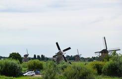 Ветрянки всемирного наследия Kinderdijk, Нидерландов стоковое изображение
