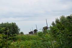 Ветрянки всемирного наследия Kinderdijk, Нидерландов стоковое фото