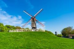 Ветрянки в Брюгге, Бельгии Стоковые Фото