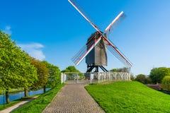 Ветрянки в Брюгге, Бельгии Стоковая Фотография
