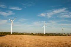 Ветрянки в датском ландшафте Стоковые Изображения RF