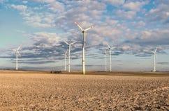 Ветрянки в поле в Германии Стоковое Изображение