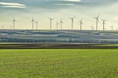 Ветрянки в поле в Германии Стоковая Фотография RF