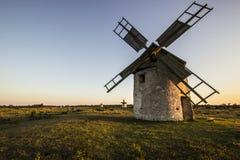 Ветрянки в поле Стоковое фото RF