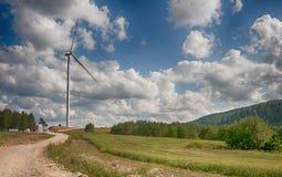Ветрянки в поле Стоковое Изображение RF