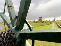 Ветрянки в Kinderdijk Голландии Стоковое фото RF