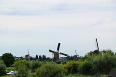 Ветрянки в Kinderdijk, Нидерландах стоковое фото rf