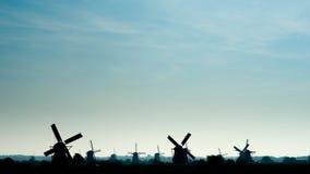 Ветрянки в Kinderdijk стоковая фотография rf