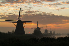 Ветрянки в Kinderdijk Стоковое Фото