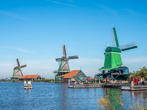 4 ветрянки в Zaan Schans Стоковое Фото