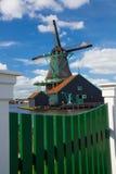 Ветрянки в Zaanse Schans, Амстердаме, Голландии Стоковые Фото