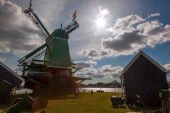 Ветрянки в Zaanse Schans, Амстердаме, Голландии Стоковое фото RF