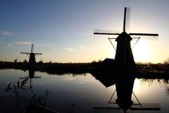 Ветрянки голландца всемирного наследия ЮНЕСКО Стоковые Фото