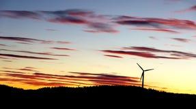 Ветрянки захода солнца Стоковая Фотография RF