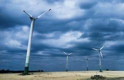 Ветрянки на восходе солнца Стоковая Фотография