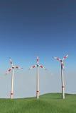 Ветрянки на холме Стоковые Изображения RF