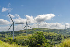 Ветрянки на холме Стоковое Изображение