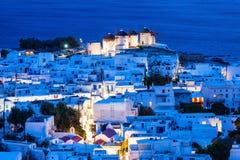 Ветрянки на Mykonos, Греции Стоковое Изображение RF