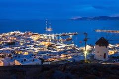 Ветрянки на Mykonos, Греции Стоковые Изображения RF