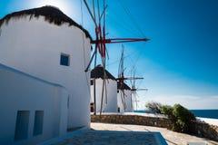 Ветрянки на Mykonos Стоковое Изображение RF