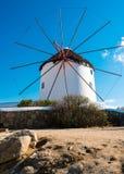 Ветрянки на Mykonos Стоковые Фотографии RF