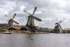 Ветрянки на Zaanse Schans Стоковое Изображение