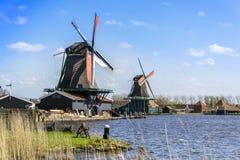 2 ветрянки около Амстердама Стоковое Изображение