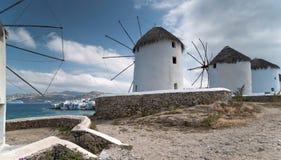 Ветрянки острова Mykonos Стоковая Фотография
