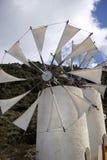 ветрянки Плато Крит Греция Lasithi Стоковые Изображения