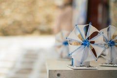 Ветрянки сувенира на Mykonos Стоковые Фото