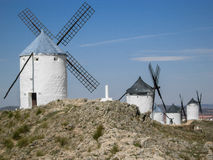Ветрянки Consuegra Испании Стоковые Фото