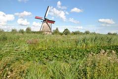 Ветрянки Kinderdijk 1 Стоковые Фотографии RF