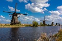 Ветрянки Kinderdijk Стоковые Фотографии RF