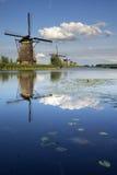Ветрянки Kinderdijk Стоковое фото RF