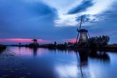 Ветрянки Kinderdijk Стоковые Изображения