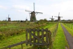 Ветрянки, Kinderdijk, Netherland Стоковая Фотография RF