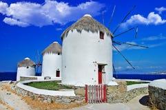 Ветрянки Mykonos Стоковая Фотография